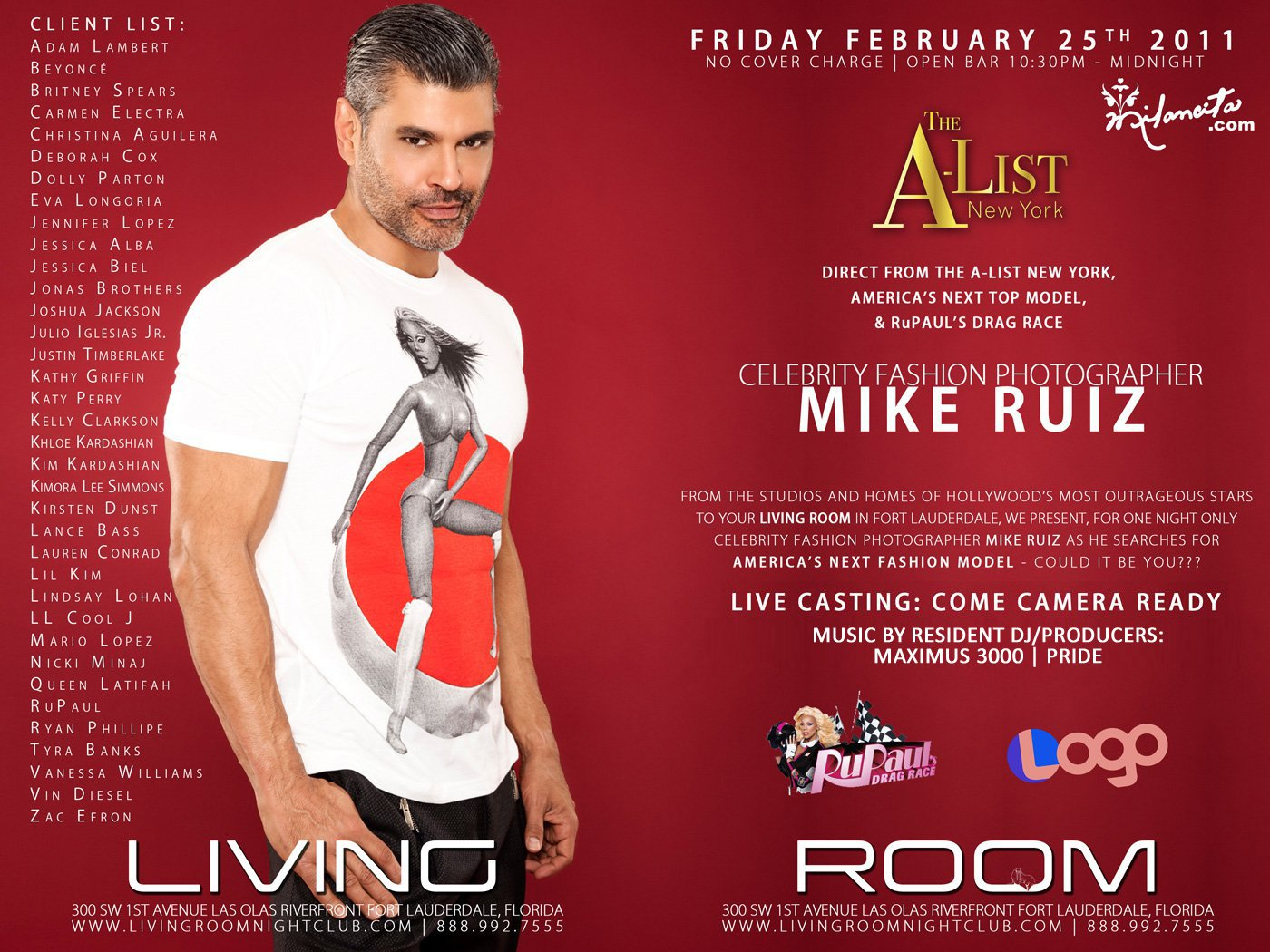 EVENTS: DJ/Producer Maximus 3000 U201cLiquid Fridays Presents Mike Ruizu201d A List  Celebrity Photographer @ Living Room Nightclub , Fort Lauderdale, FL  2 25 2011 Part 67