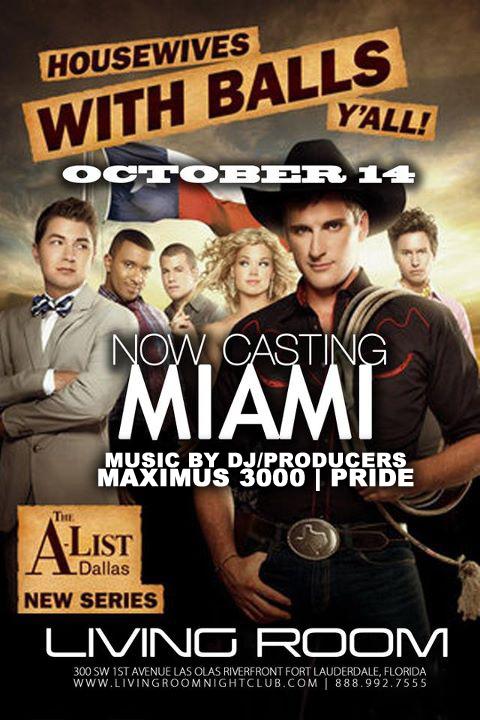 EVENTS DJProducer Maximus Liquid Fridays Presents A List Miami Casting Living Room Nightclub Fort Lauderdale FL